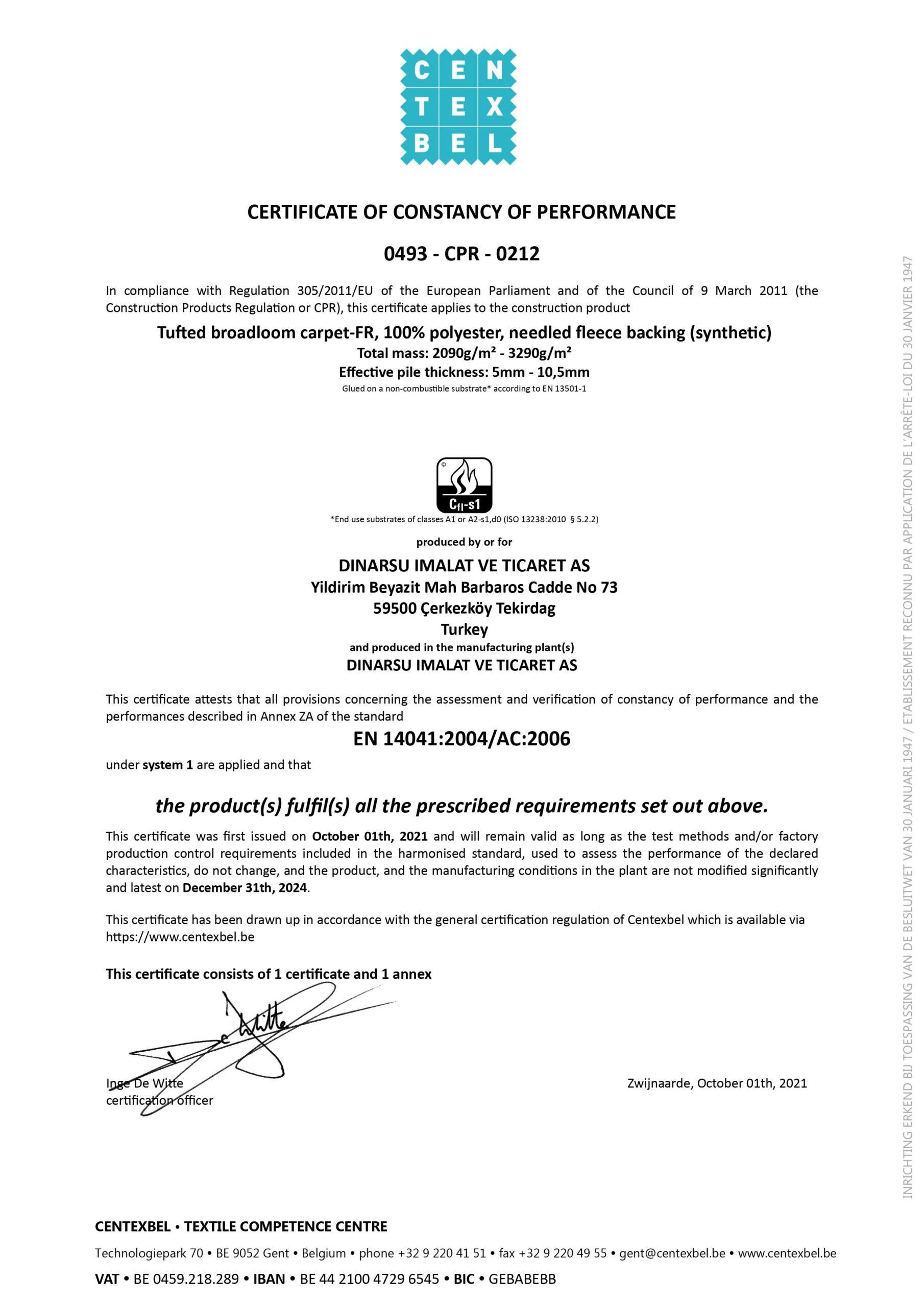 Dinarsu Sertifika – 2021